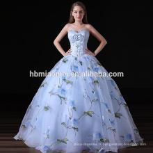 2017 luxe femmes robe robe de soirée sans bretelles haut de gamme
