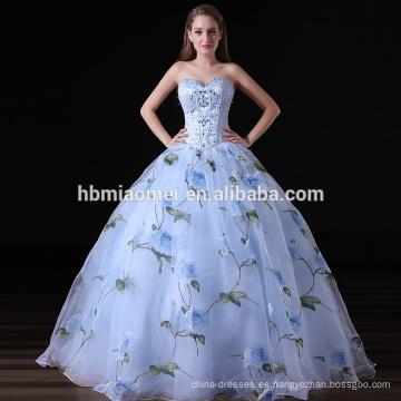 Vestido de noche sin tirantes de gama alta de 2017 mujeres del vestido de lujo