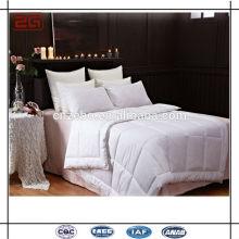Suave blanco liso algodón / abajo edredón de cama congelado