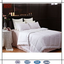 Soft Plain White Cotton/ Down Frozen Bed Quilt