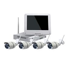 câmera de segurança HD LCD sem fio cctv câmera ao ar livre wi-fi câmera conexão kit