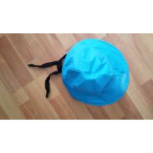 Небесно-голубой PU водонепроницаемый плащи / Rain Cap/шляпа для взрослых