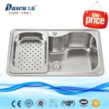 Indonesien kleine Küchengeräte Emaille Steel Kitchen Sink mit Sieb