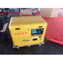 Gerador diesel silencioso do diodo emissor de luz da única fase 50Hz / 5kw da CA com o dossel para o uso da loja