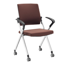 Stackable mobility fabric chair for meeting room or conference room