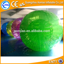 Primera bola de rodadura inflable de la bola de la bola humana del hámster del color de la fábrica de la venta para los cabritos