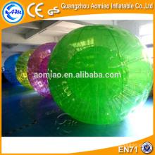 Primeira venda de fábrica de cor diferente hamster humano bola bola de rolamento inflável para crianças