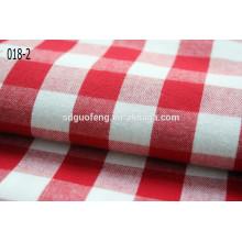 Tela teñida hilado 2014 de la franela del diseño del inspector de la moda para la camisa
