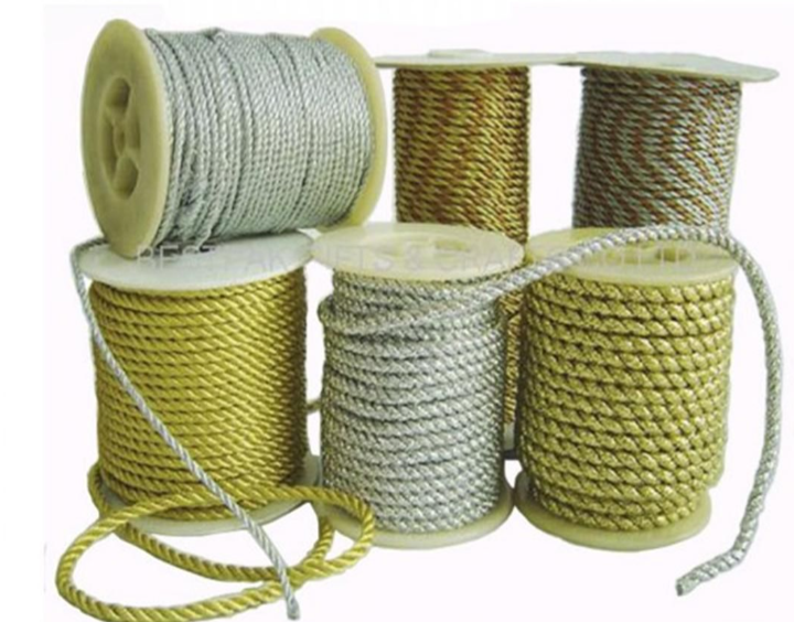 white Twisted rayon Rope