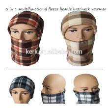 Máscara de rosto capuz capuz capuz chapéu de lã beanie knitted pescoço aquecedor