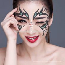 Wegwerfleichter Wäsche-bunte ungiftige spezielle Kunst kundengebundener Gesichts-Aufkleber