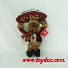 Stuffed Reindeer with Wood Plate