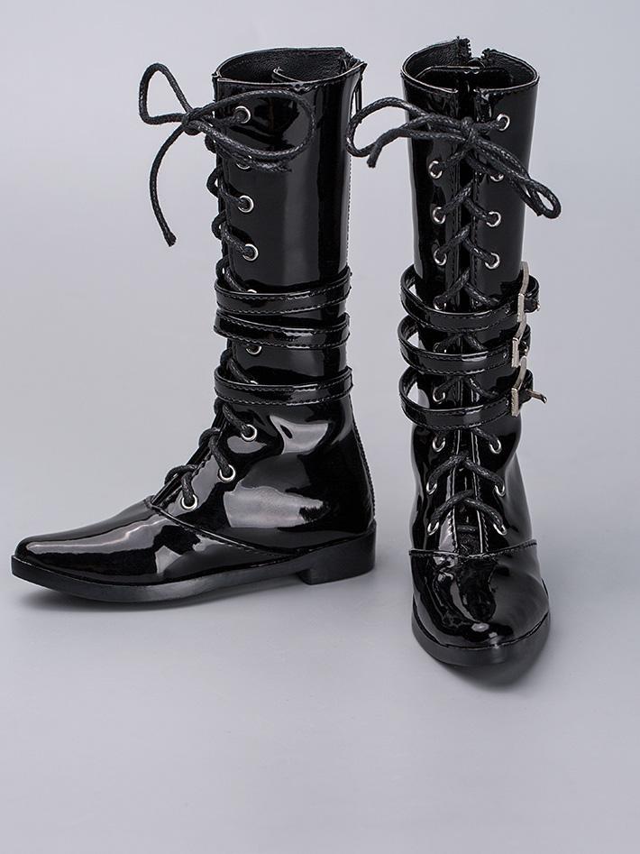 Male Black High Boots Rshoes70-38 for 70cm BJD