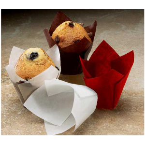 White paper muffin cup