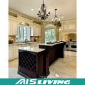 Cabinet de cuisine en bois de moulage de couronne de conception professionnelle (AIS-264)