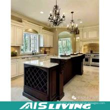 Gabinete de cocina de madera sólida de la teca modificada para requisitos particulares producto caritativo (AIS-K445)