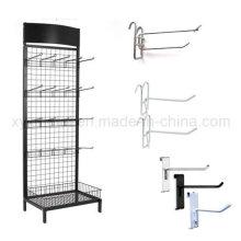 Gitter-Wand-Haken Draht-Mesh-Stahl Gridwall Panel Stand Raster Display Rack