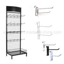 Grid Wall Hooks Wire Mesh Steel Gridwall Panel Stand Grid Display Rack