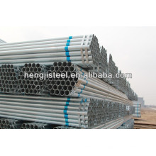 Tianjin hengji erw bs1387 tubo de acero galvanizado