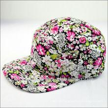 flower 5 panel hats