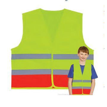 Kids Lime and Orange Safety Vest (Children 5-10 years)