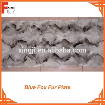 Front Paw Blue Fox Fur Plate