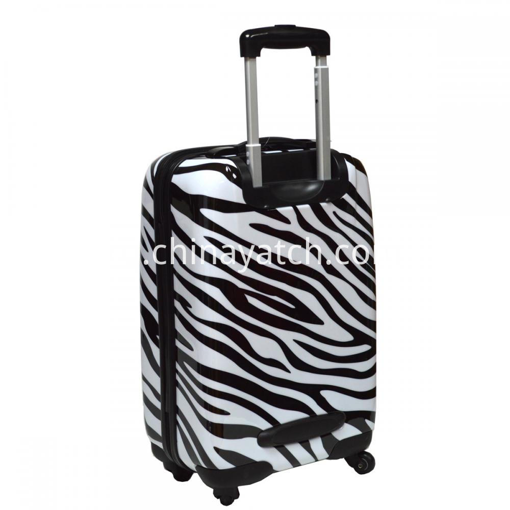 Zebra-stripe Luggage Trolley