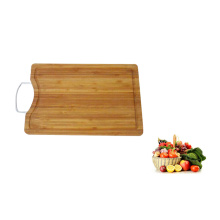 square shaped thick bamboo chopping board