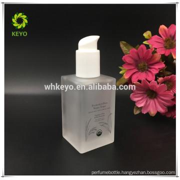 2017 cosmetic bottle 120ml glass bottle square glass bottle
