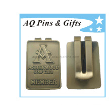 Square Shaped Metal Money Clip with 3D Logo (Golf-025)