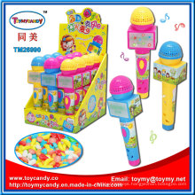 Plastic Microphone Toy Candy with Music