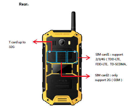 LTE 4G all network Qualcomm rugged Android smartphone