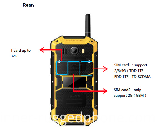 IP68 Rugged Smart mobile Phone