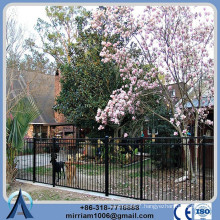 Powder coating steel ornamental fence