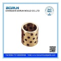 Oilless bronze bushing with graphite inserts