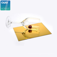 OLEG 2mm 3mm 5mm Gold Silver Mirror Acrylic Sheet Cutting 100% Virgin PMMA High Gloss Decoration