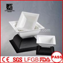 P&T chaozhou porcelain factory ceramic banquet use square salad bowl, soup bowl