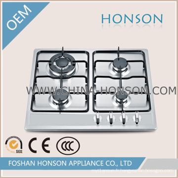 Table de cuisson à gaz encastrable de luxe avec allumage automatique