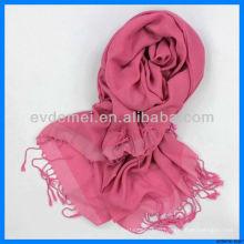 Модный окрашенный в пряжи 100% вискозный шарф из пашмины