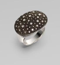David Yurman Pavé Diamond & Blackened Sterling Silver Starlight Ring