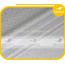 La mejor tela de calidad africana bazin riche damasco guinea brocado blanco boubou tela