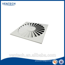 Air conditioning swirl diffuser