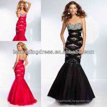 HE2138 Black eaded net with colored beaded bodice ruched tulle sparkly lace up back evening dress criss cross band mermaid gown