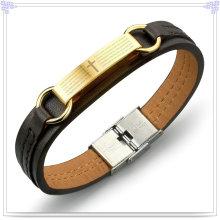 Moda jóias de couro pulseira de couro da jóia (lb261)