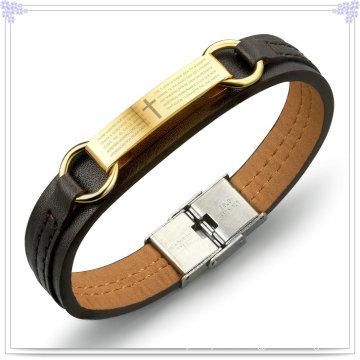 Joyería de moda cuero joyería pulsera de cuero (lb261)