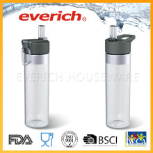 Cheap Plastic Bottle Manufacturer With Straw Lid Easy Drinking