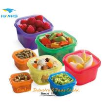 Mode de vie sain sans BPA 7 pièces Multicolore, couleur codée Portion Control Container Kit, preuve de fuite, 21 jours Planner