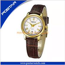 Fast Delivery Superior Quality Quatz Watch with Genuine Leather Band