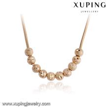 43459-alta calidad de joyería de moda 18k oro gran collar de cuentas redondas
