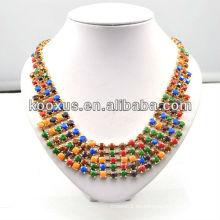 Collar colorido del grano de la joyería del grano de la manera